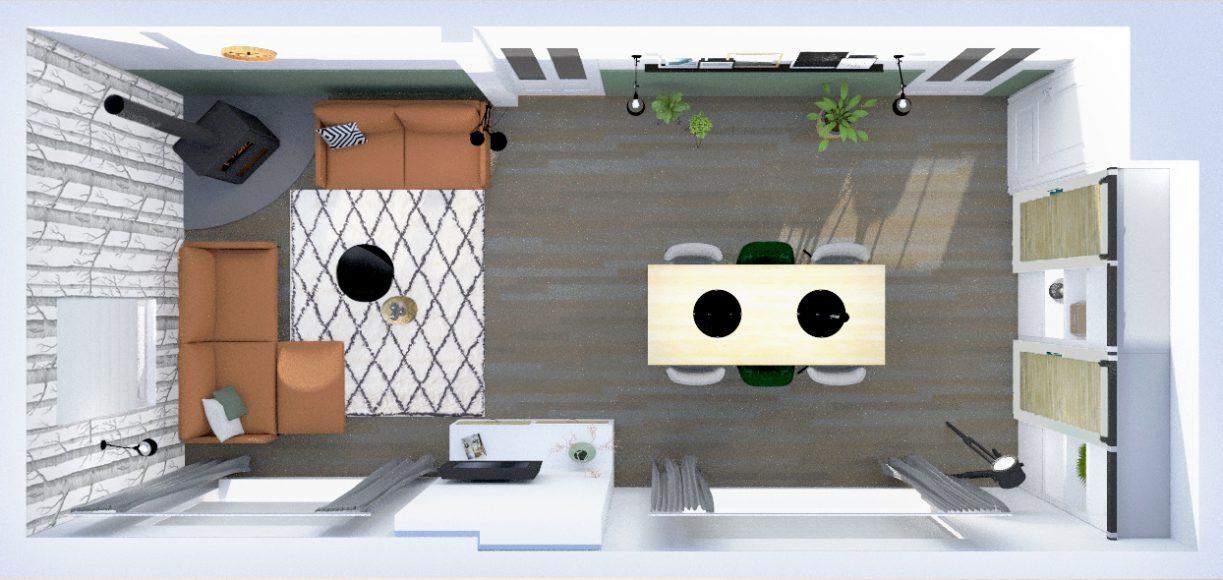 3d visualisatie interieuradvies huiskamer interieurontwerp Waalwijk Kaatsheuvel