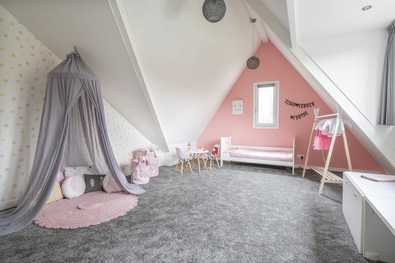 bed 2 meisjeskamer interieuradvies interieurontwerp styling binnenhuisarchitect Hedel Den Bosch