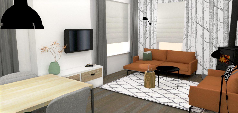 3d visualisatie interieuradvies huiskamer interieurontwerp Waalwijk