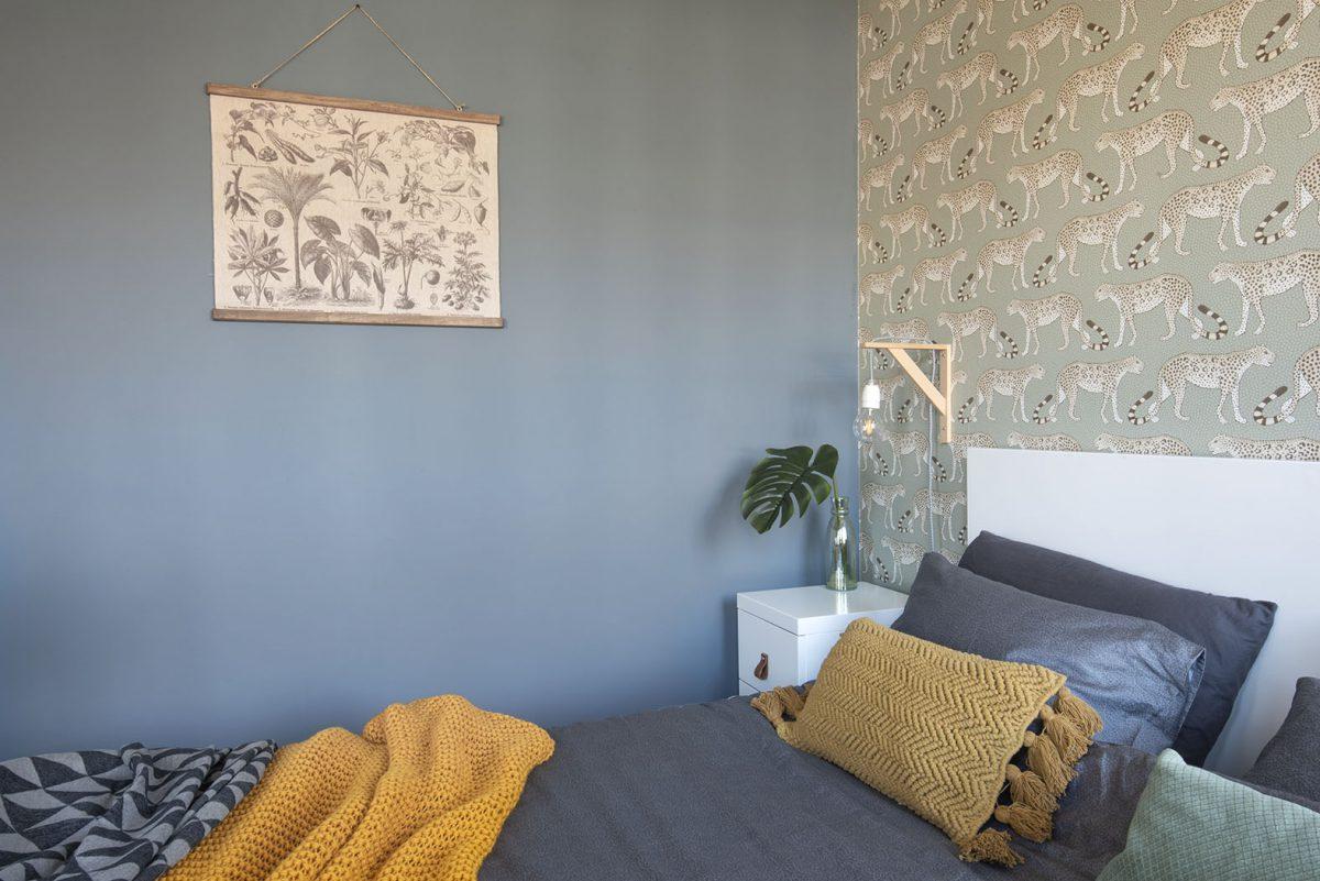 Slaapkamer interieurstylist-interieurontwerp-blauw-luipaard-styling-groen-10