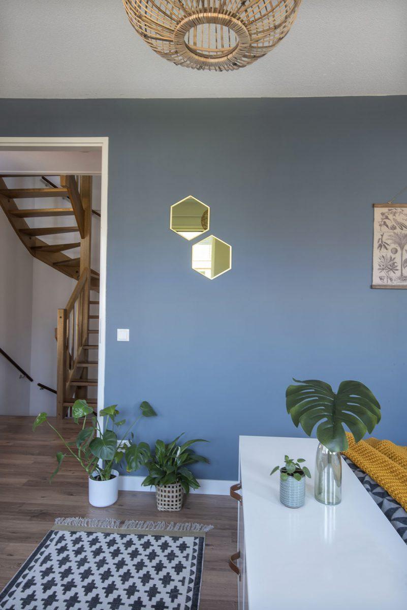 Slaapkamer-interieurontwerp-blauw-luipaard-styling-groen interieurstylist