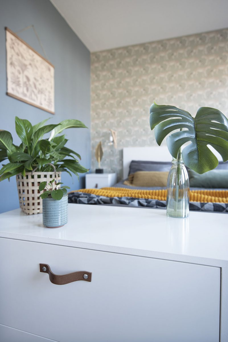 Slaapkamer-interieurontwerp Drunen-blauw-luipaard-styling-groen-6