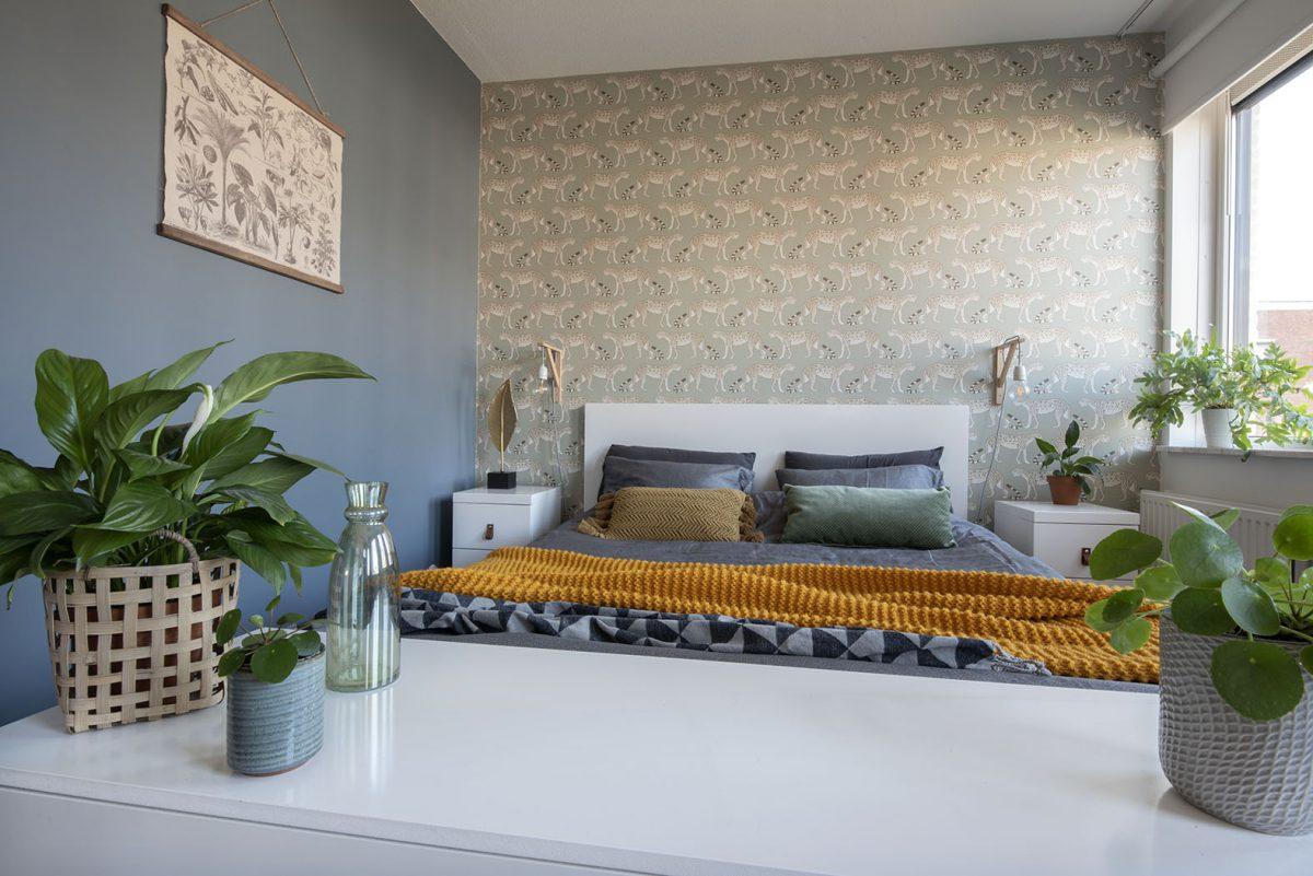 Slaapkamer-interieurontwerp Drunen-blauw-luipaard-styling-groen-7