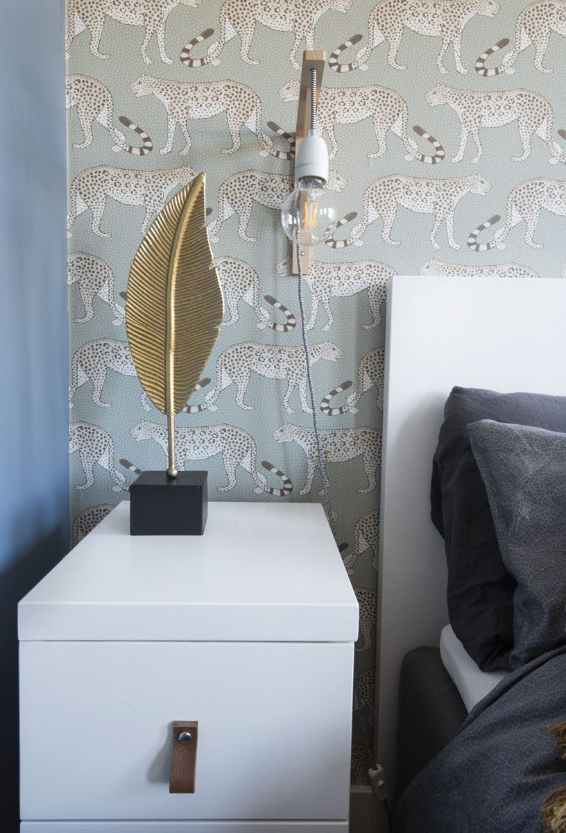 Slaapkamer-interieurontwerp-blauw-luipaard-styling-groen-9