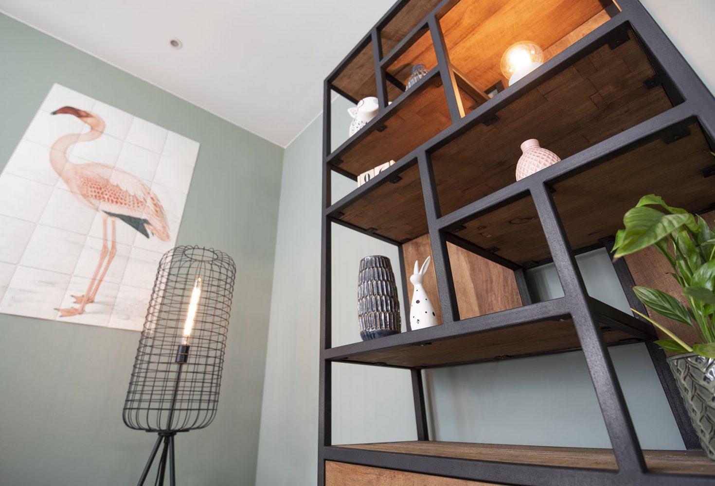 Huiskamer interieur advies Drunen styling binnenhuisarchitect kast sfeer