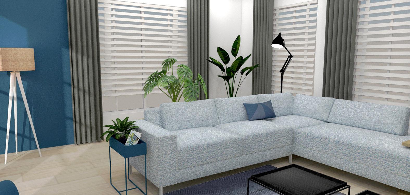 Huiskamer interieuradvies binnenhuisarchitectuur drunen elshout styling 3d visualisatie 2
