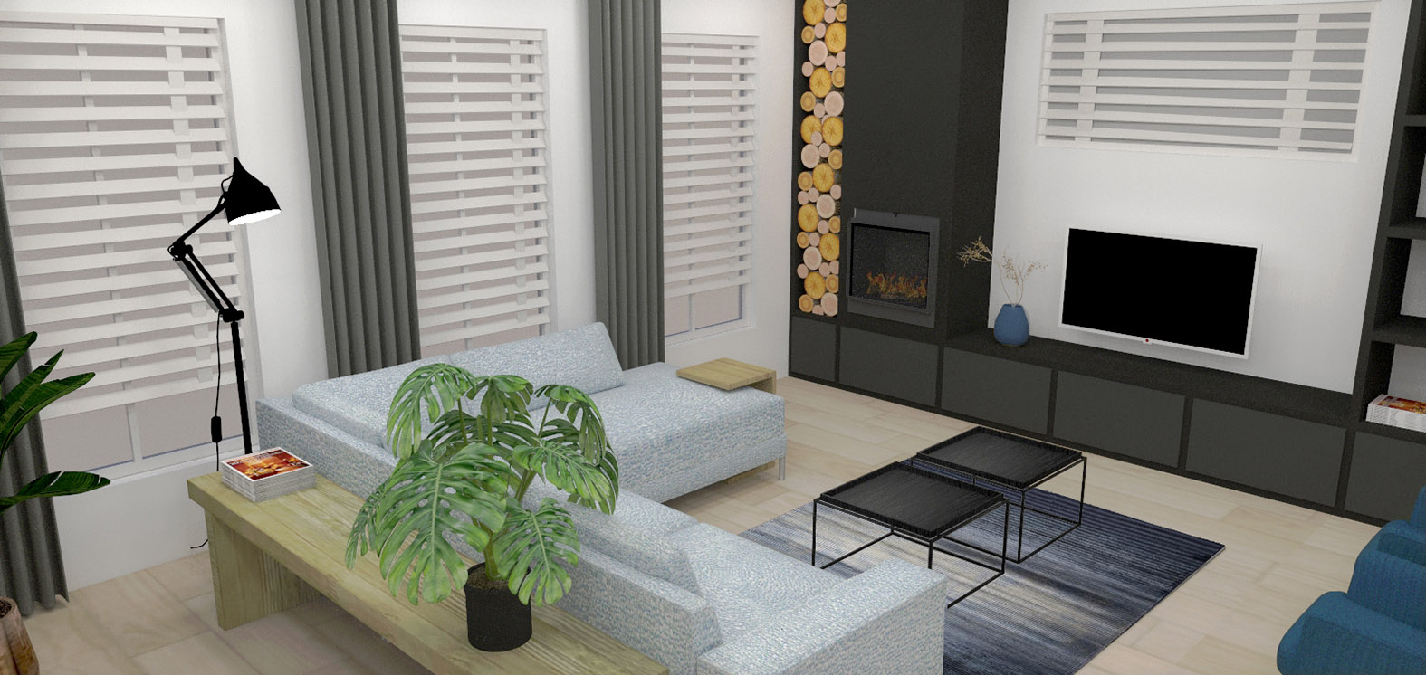 Huiskamer interieuradvies binnenhuisarchitectuur drunen elshout styling 3d visualisatie