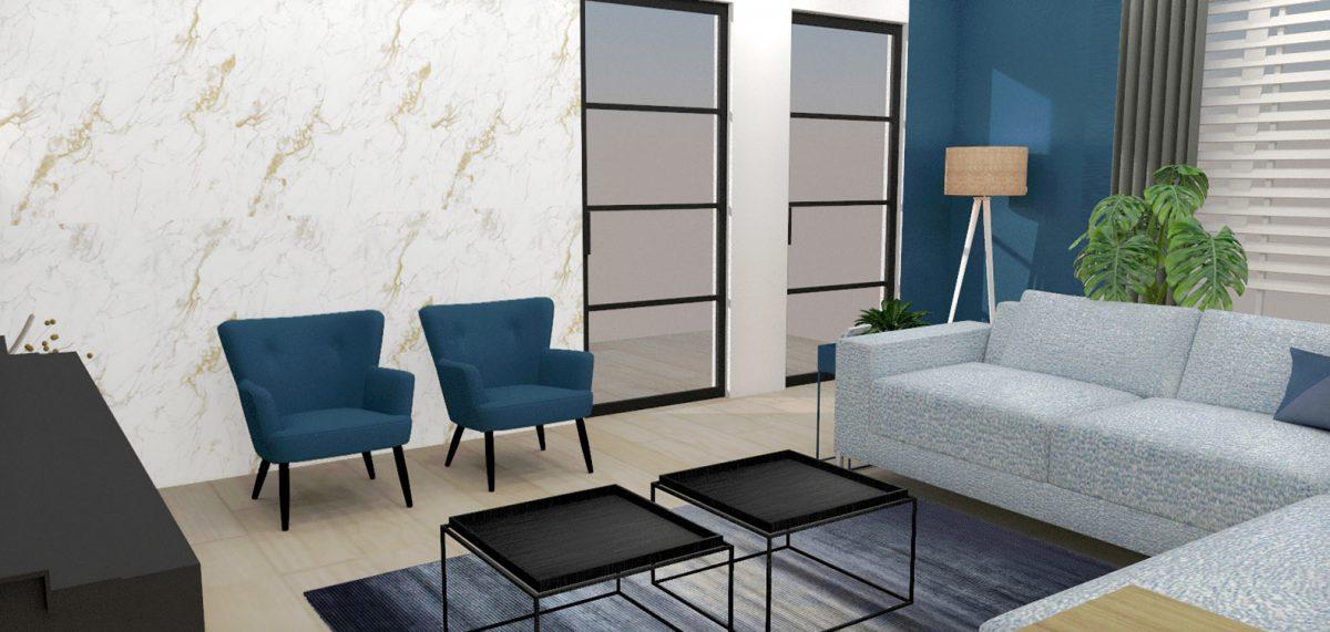 Huiskamer interieurontwerp binnenhuisarchitect drunen elshout styling 3d visualisatie 2