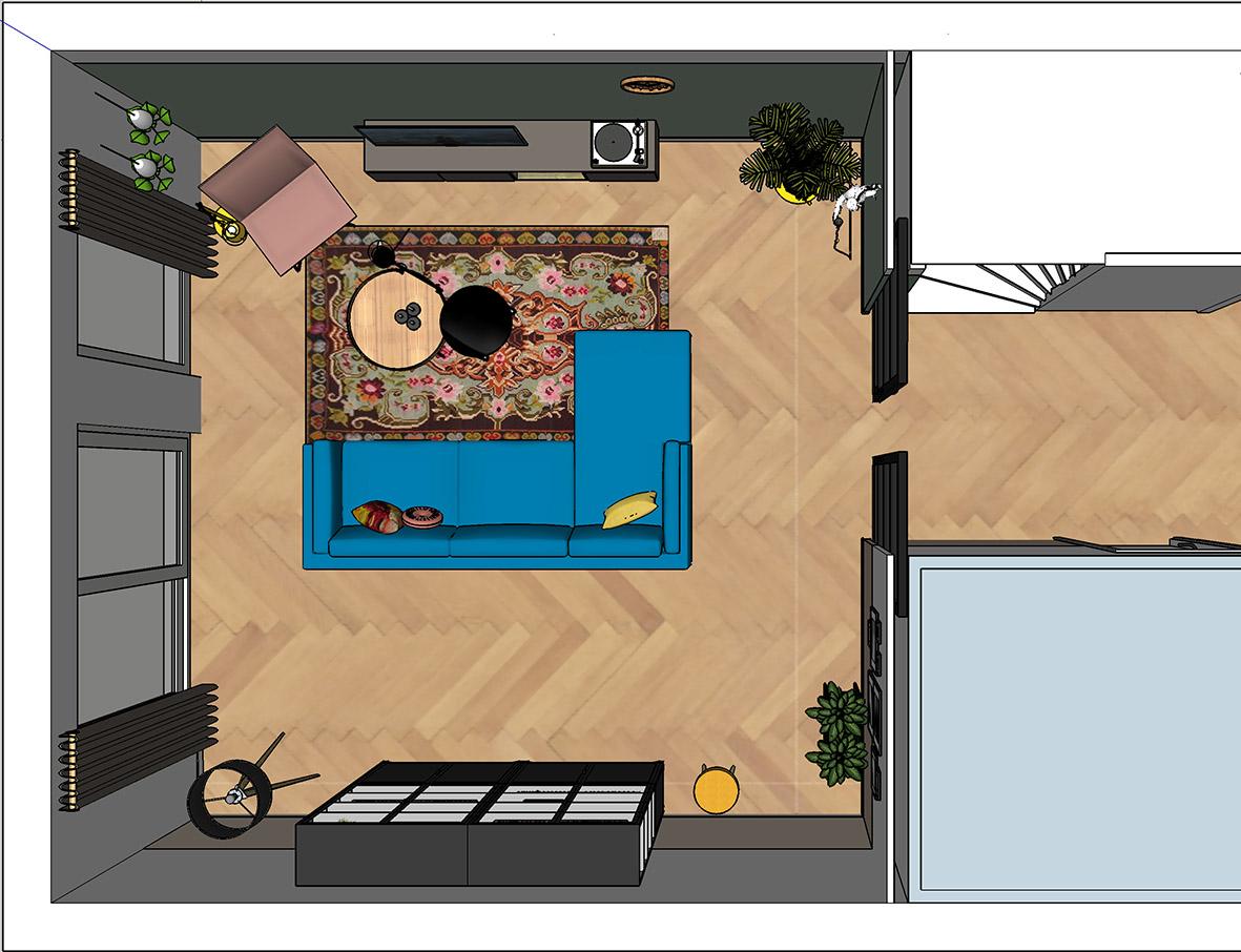 Plattegrond woonkamer interieuradvies interieurontwerp Breda stylingadvies Teteringen