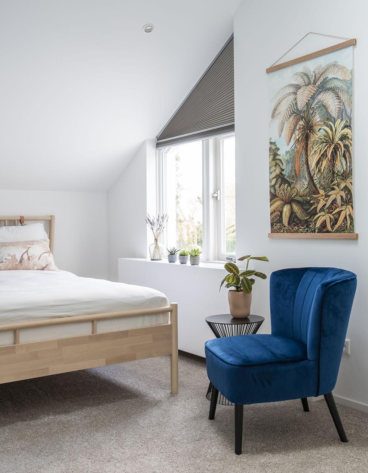zolder slaapkamer schuin dak interieuradvies Den Bosch interieurontwerp