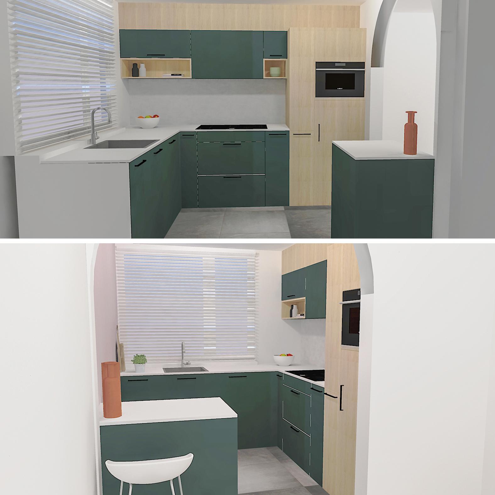 3D visualisatie maatwerk keuken Drunen Vlijmen